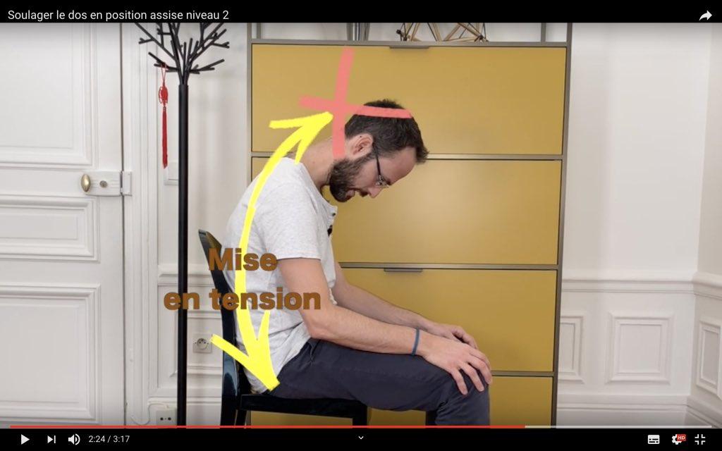 Exercice neuro dynamique pour soulager le dos