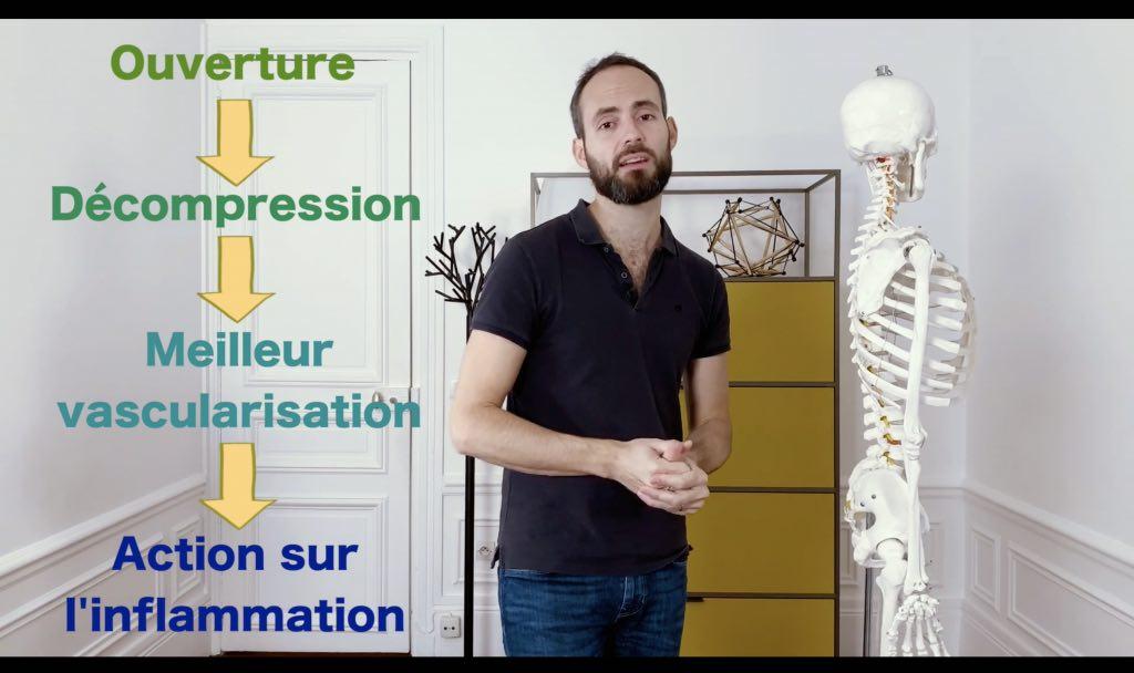 Exercice de décompression vertébrale pour améliorer la sciatique