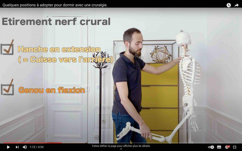 Comment mettre en tension le nerf crural