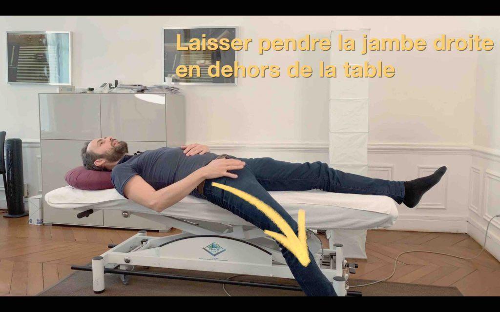 Cruralgie un exercice pour diminuer la douleur