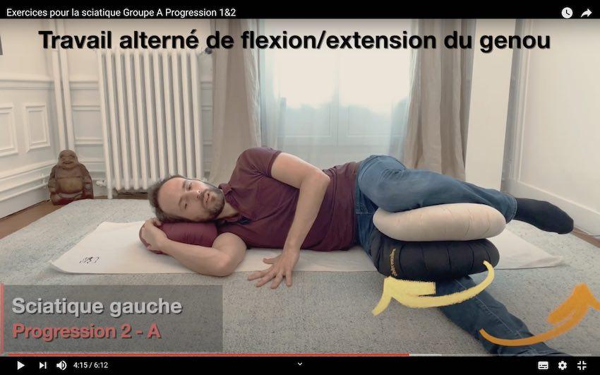 Soigner la sciatalgie exercice neurodynamique 2 A