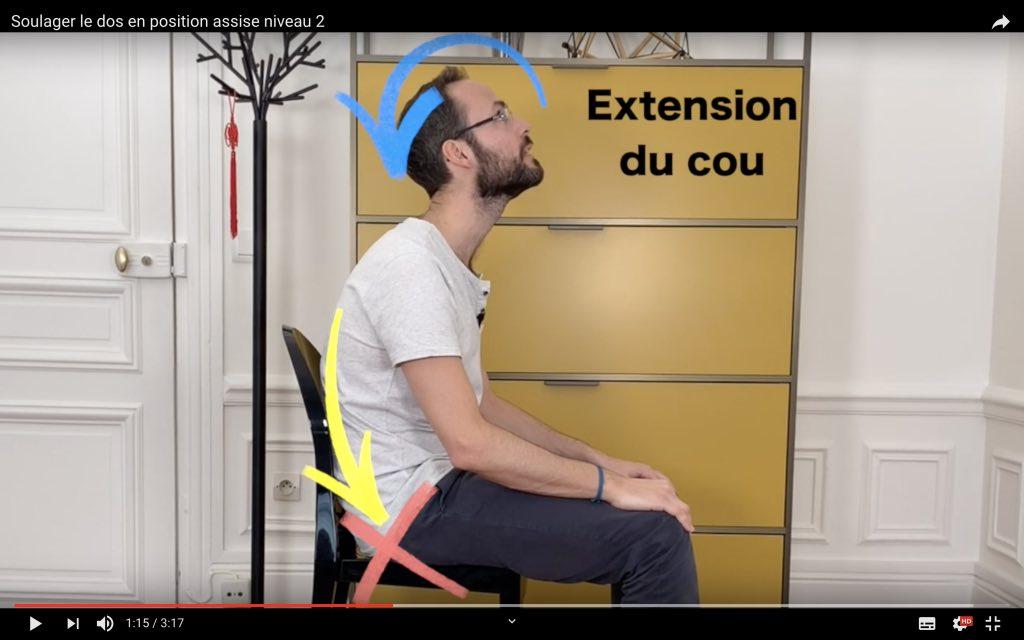 Exercice physiothérapeute détendre les muscles du dos