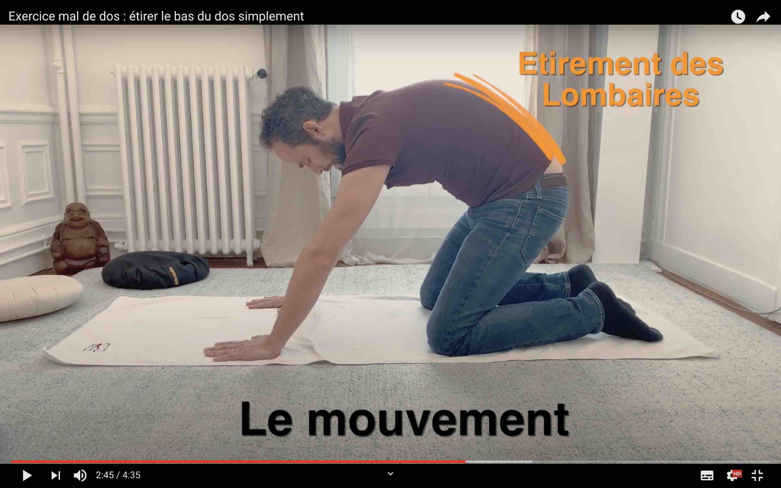 Etirer le bas du dos efficacement
