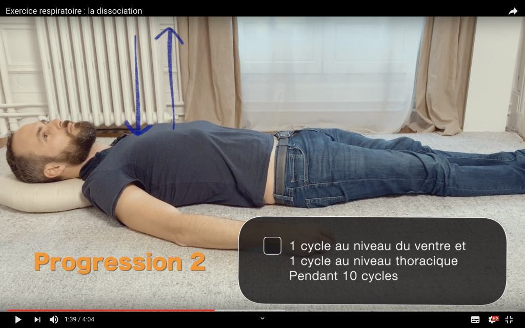 Détendre le dos avec la respiration thoracique