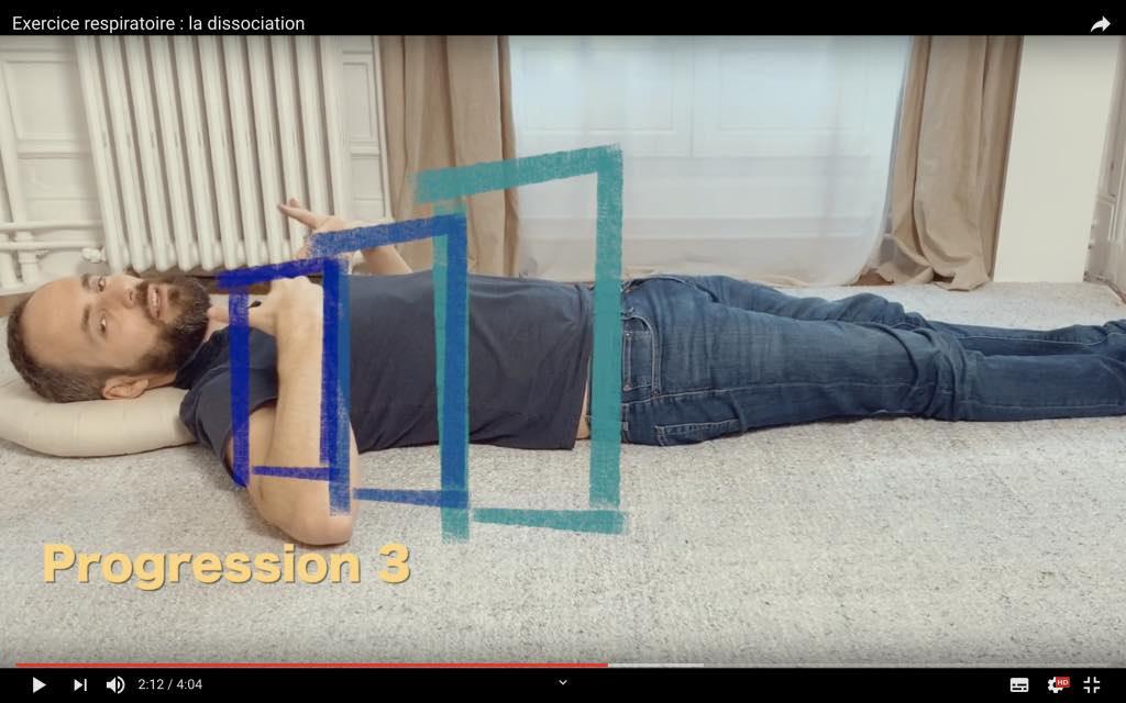 Exercice respi pour diminuer la tension du dos