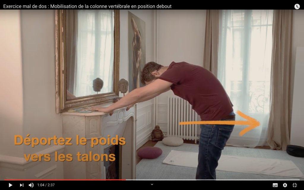 Exercice en flexion pour soulager la douleur de dos