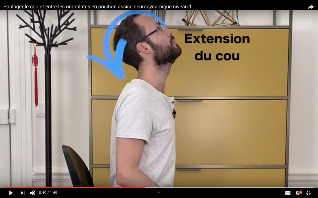 Position en extension du cou