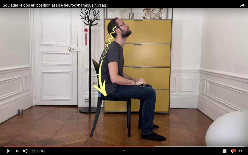 exercice relâcher les muscles du dos