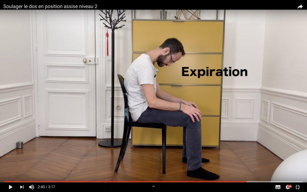 Calmer le mal de dos en posture assise