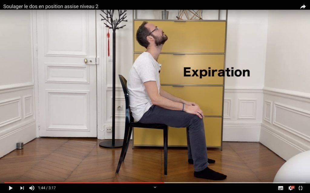Exercice physiothérapeute à l expiration