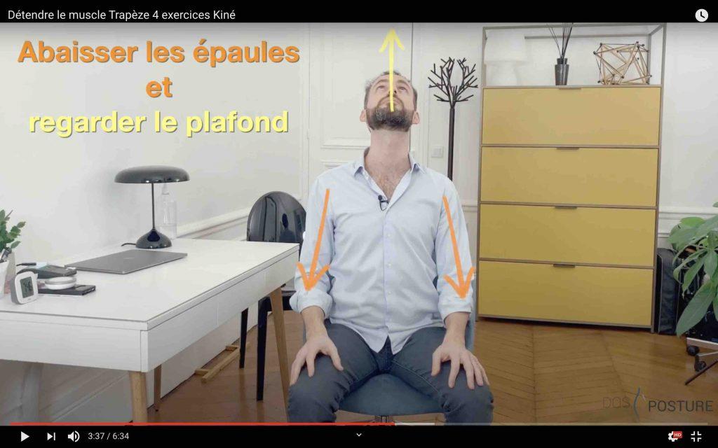 soigner le cou avec un exercice de neuro dynamique