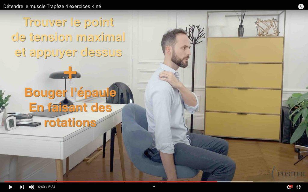Auto rééducation massage du trapèze efficace