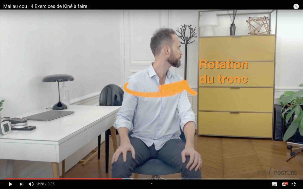 Exercice pour détendre les vertèbres cervicales